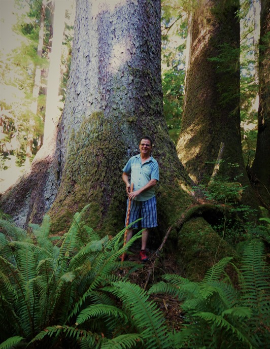 Keith @ Old Growth trail2b